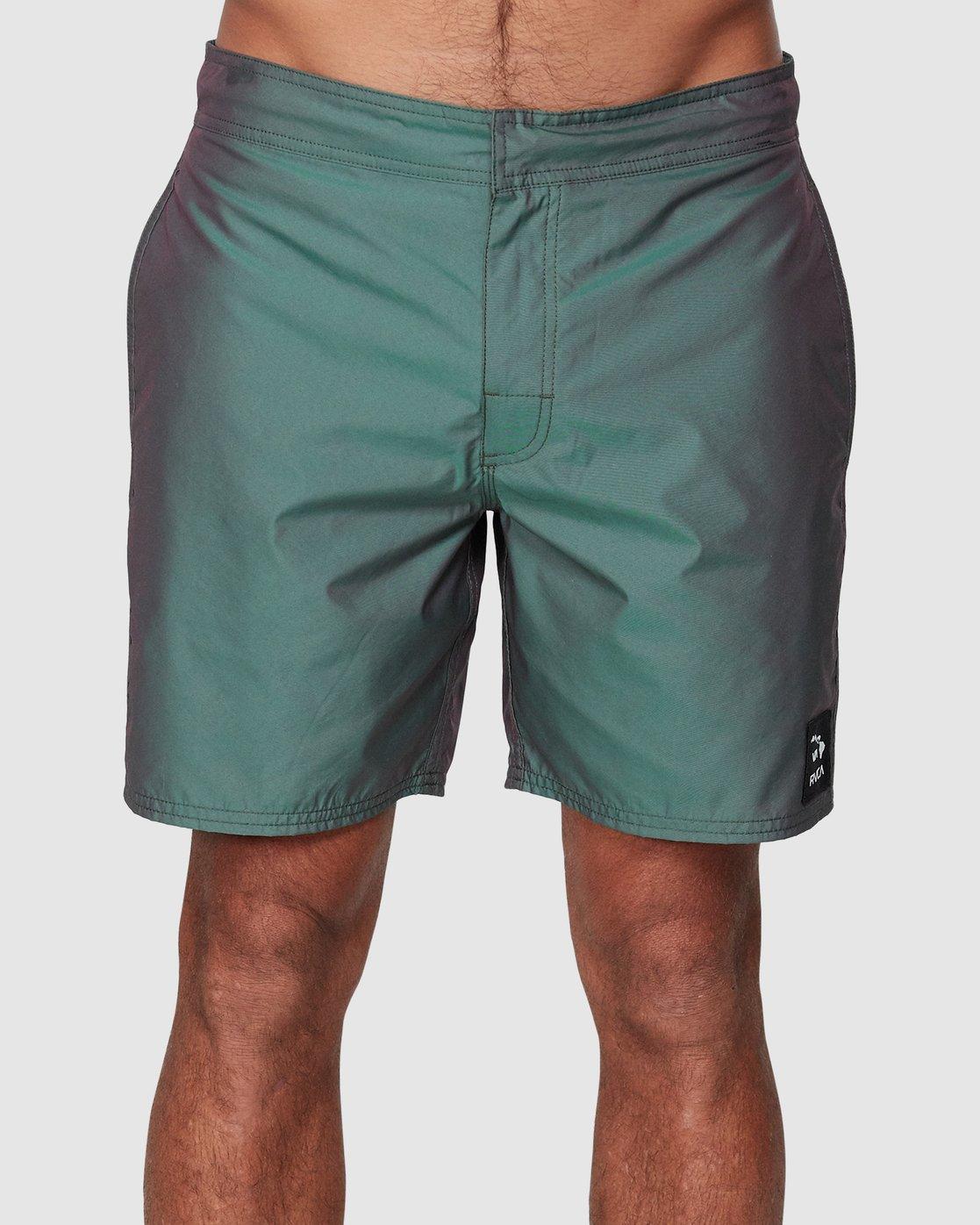 1 Hazed Elastic Shorts  R307400 RVCA
