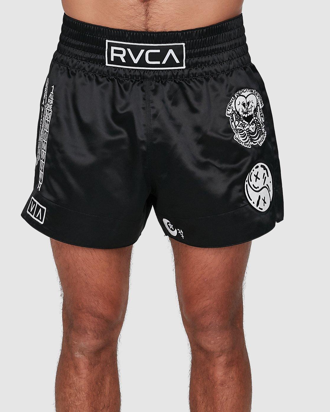 1 Ortiz Muay Thai Shorts Black R308311 RVCA