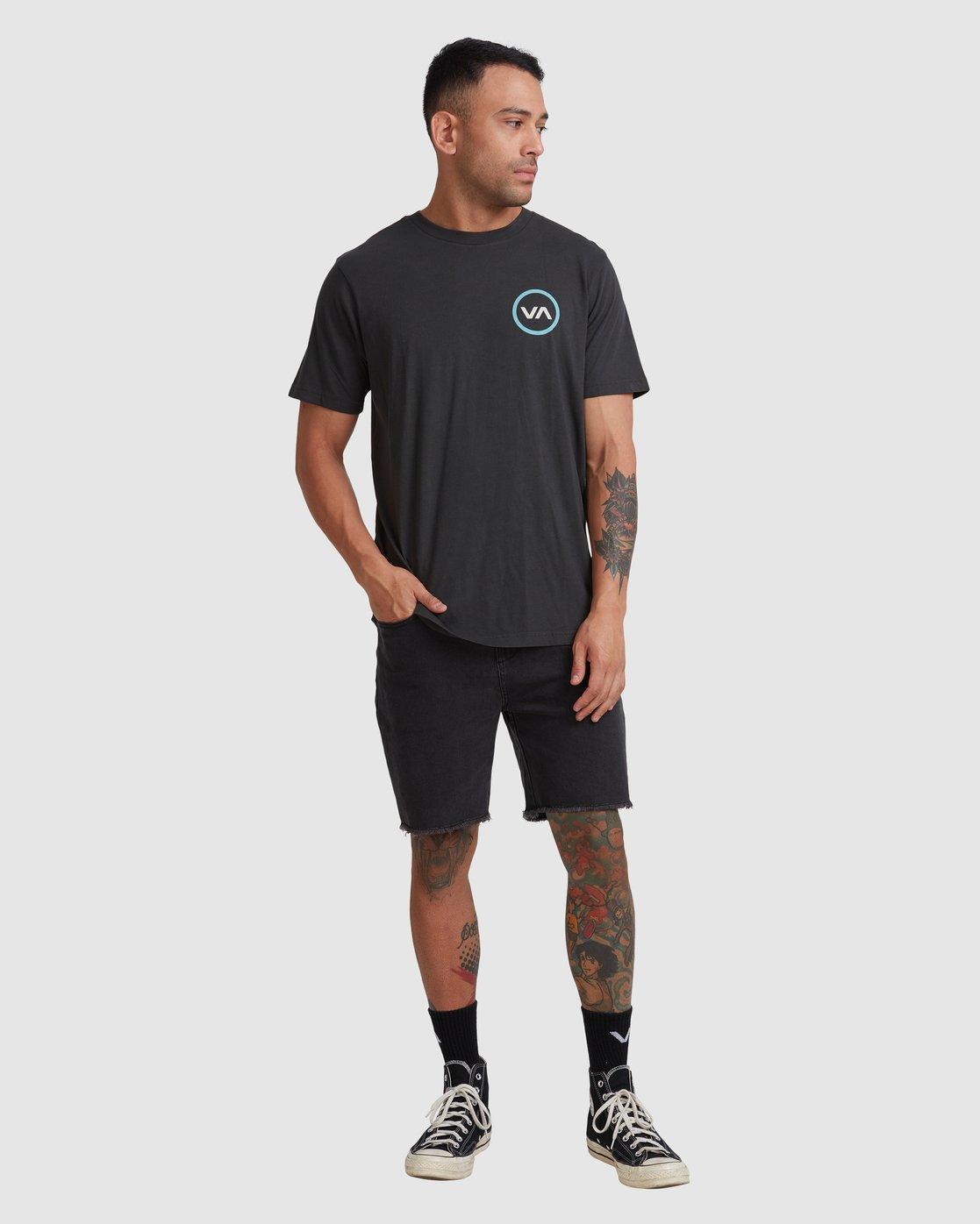 4 VA Mod Short Sleeve Tee Black R317085 RVCA