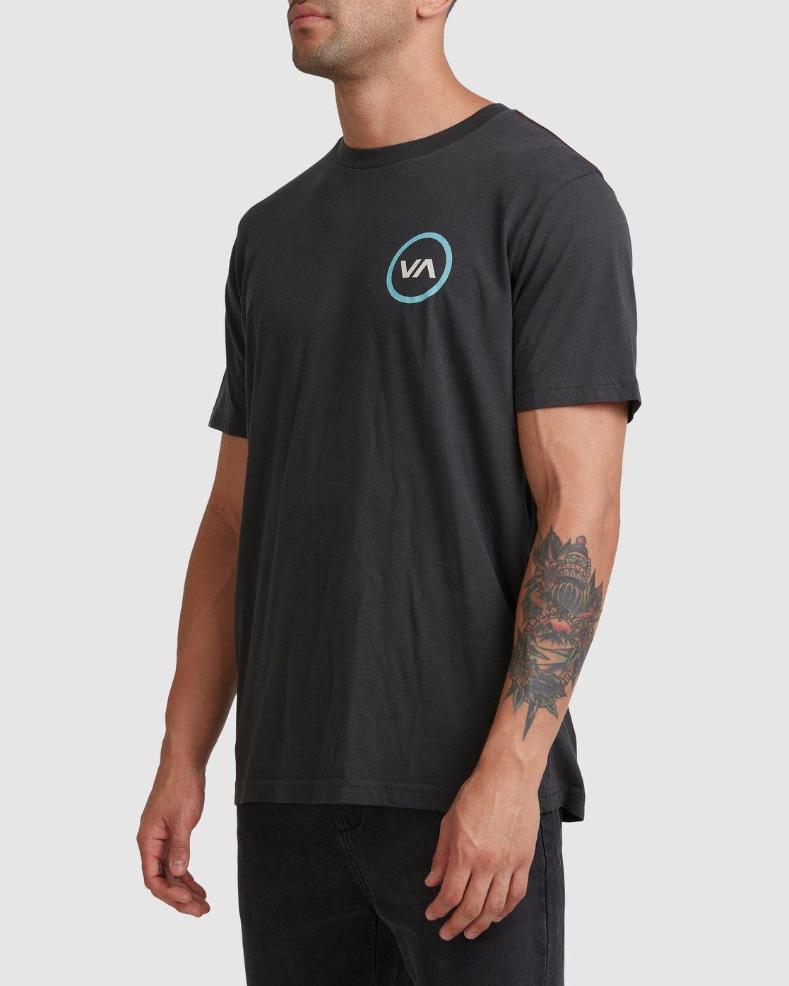 1 VA Mod Short Sleeve Tee Black R317085 RVCA