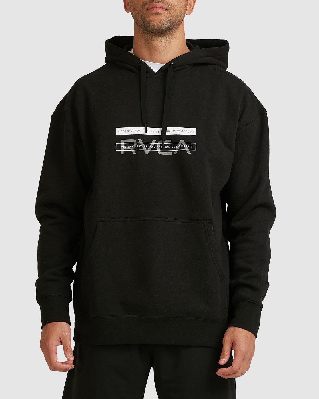 0 VA BAR HOODIE Black R317161 RVCA