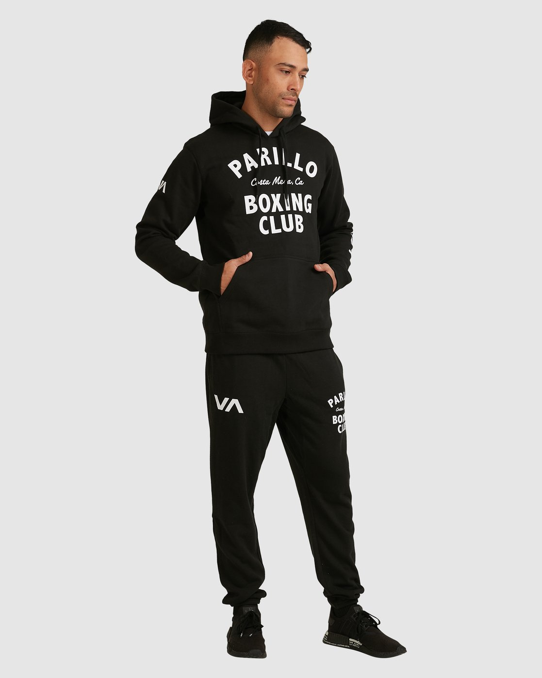 4 PARILLO BOXING CLUB HOODIE Black R317165 RVCA