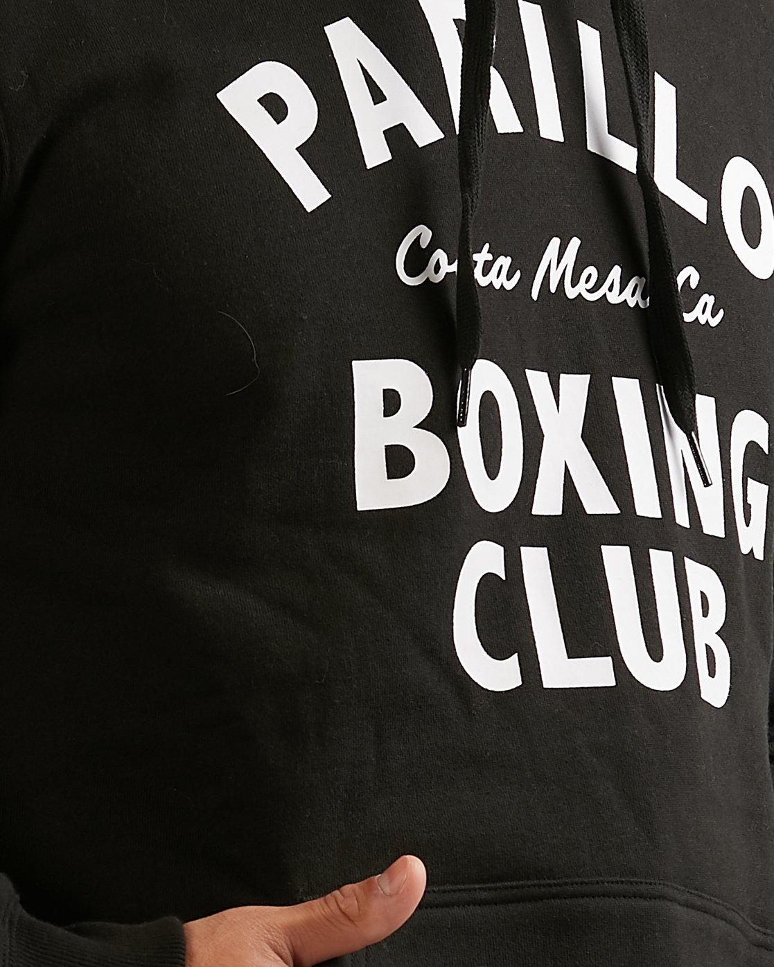 3 PARILLO BOXING CLUB HOODIE Black R317165 RVCA