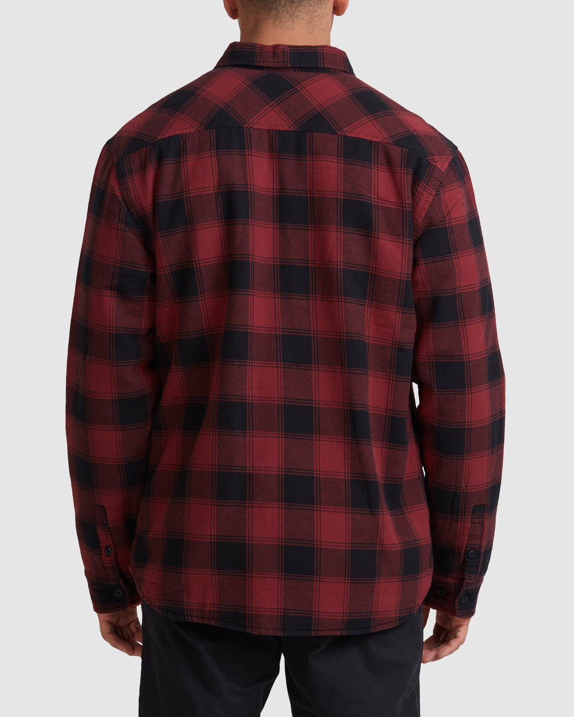 2 REPLACEMENT FLANNEL LONG SLEEVE SHIRT Red R317182 RVCA