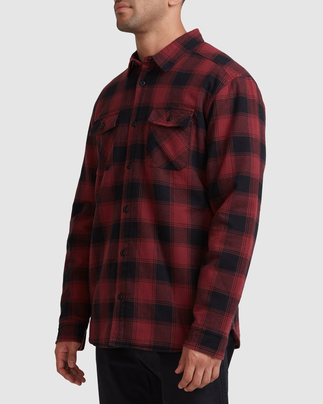 1 REPLACEMENT FLANNEL LONG SLEEVE SHIRT Red R317182 RVCA