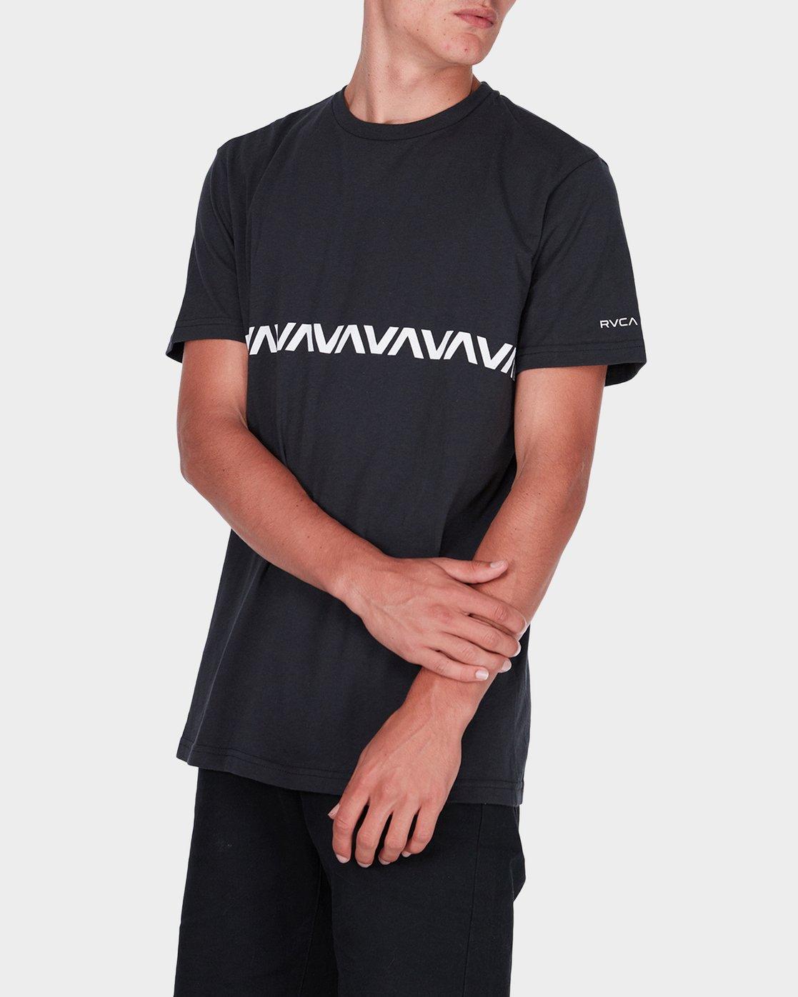 1 Va Stripe T-Shirt  R371009 RVCA