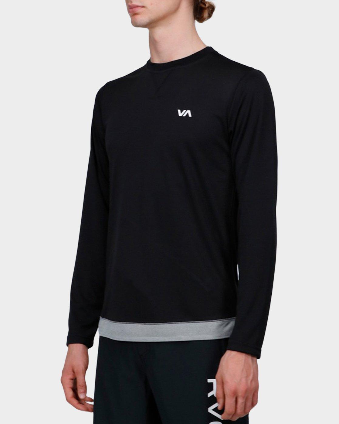 1 Runner Mesh Long Sleeve T-Shirt Black R371092 RVCA