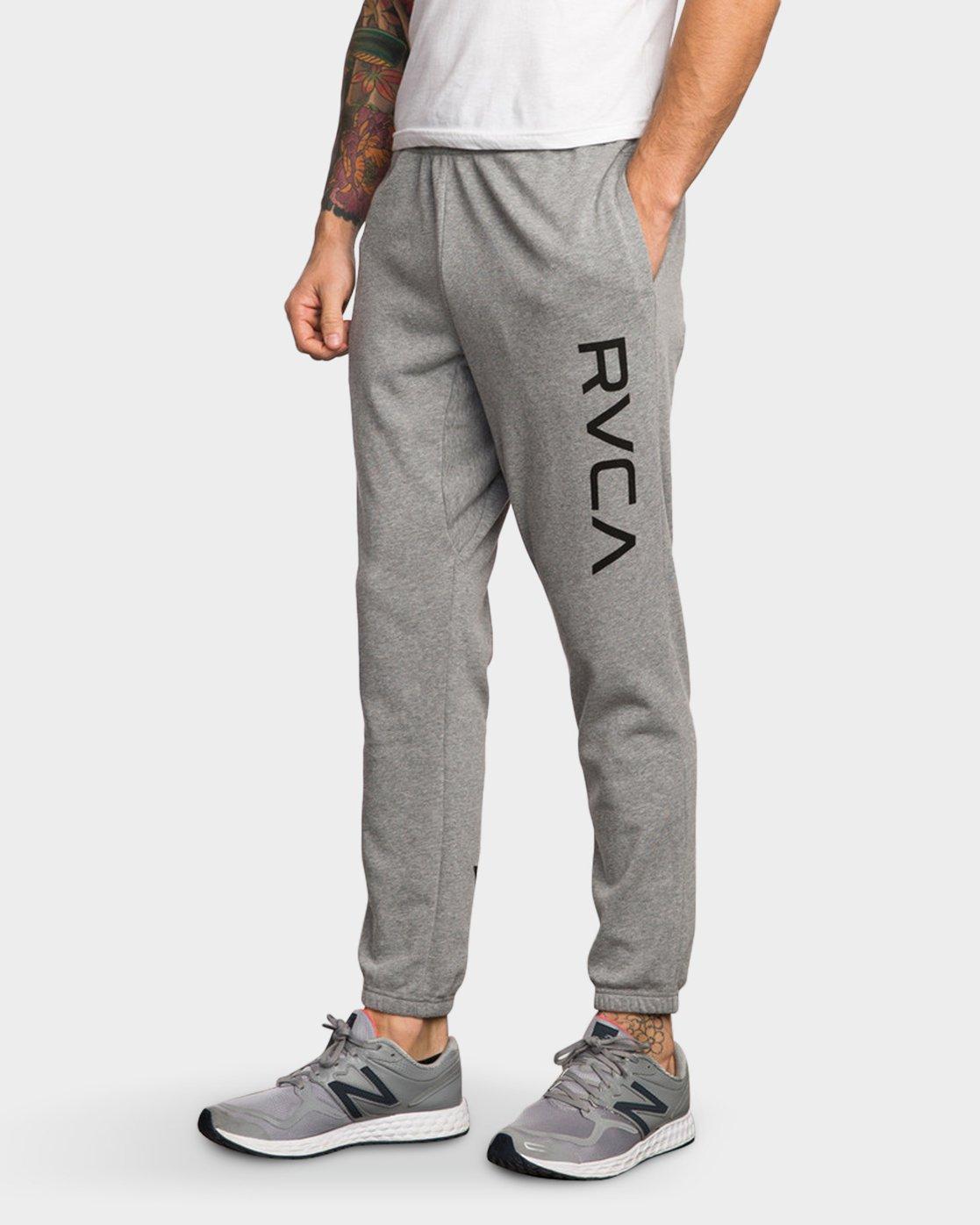 0 Big RVCA Sweat Pant Grey R371155 RVCA
