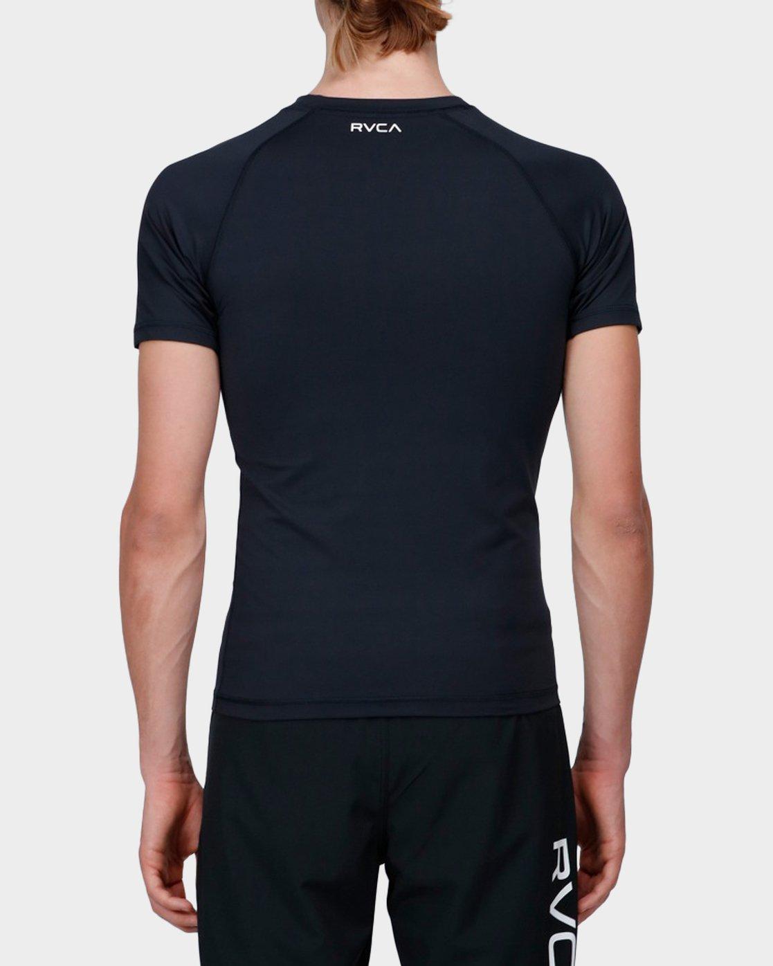 2 Va Sport Compression T-Shirt Black R371362 RVCA