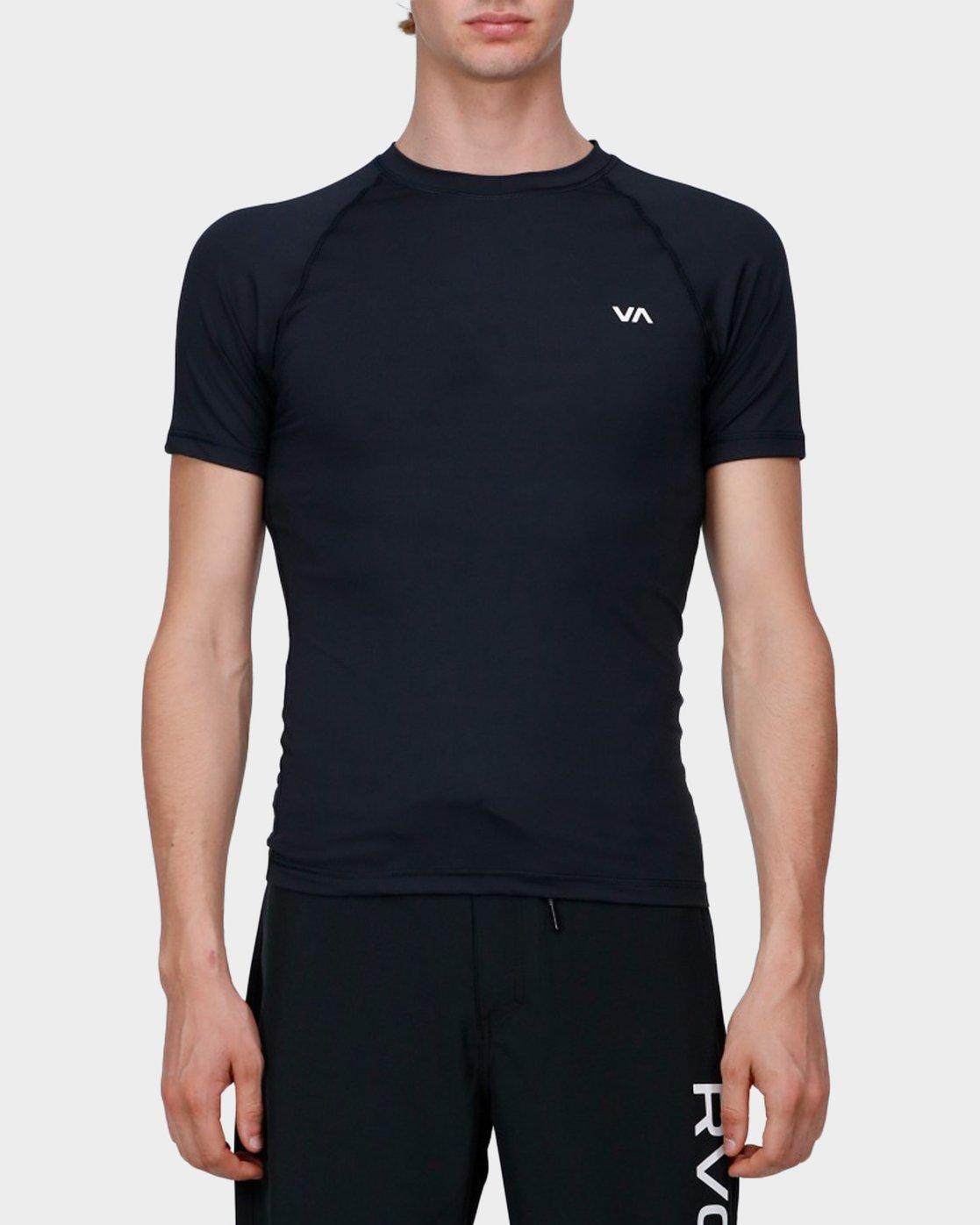 0 Va Sport Compression T-Shirt Black R371362 RVCA