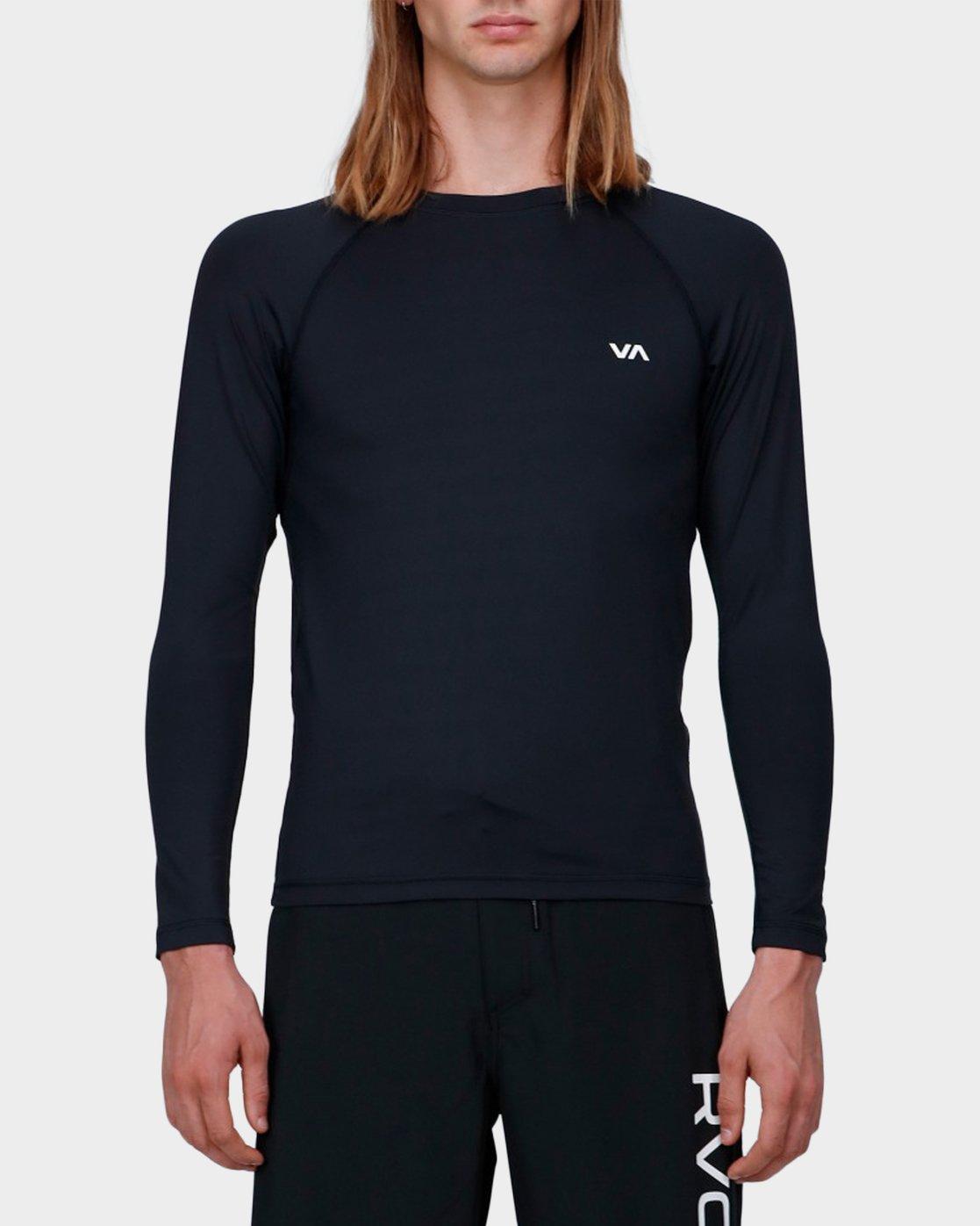 0 Va Sport Compression Long Sleeve Top Black R371364 RVCA