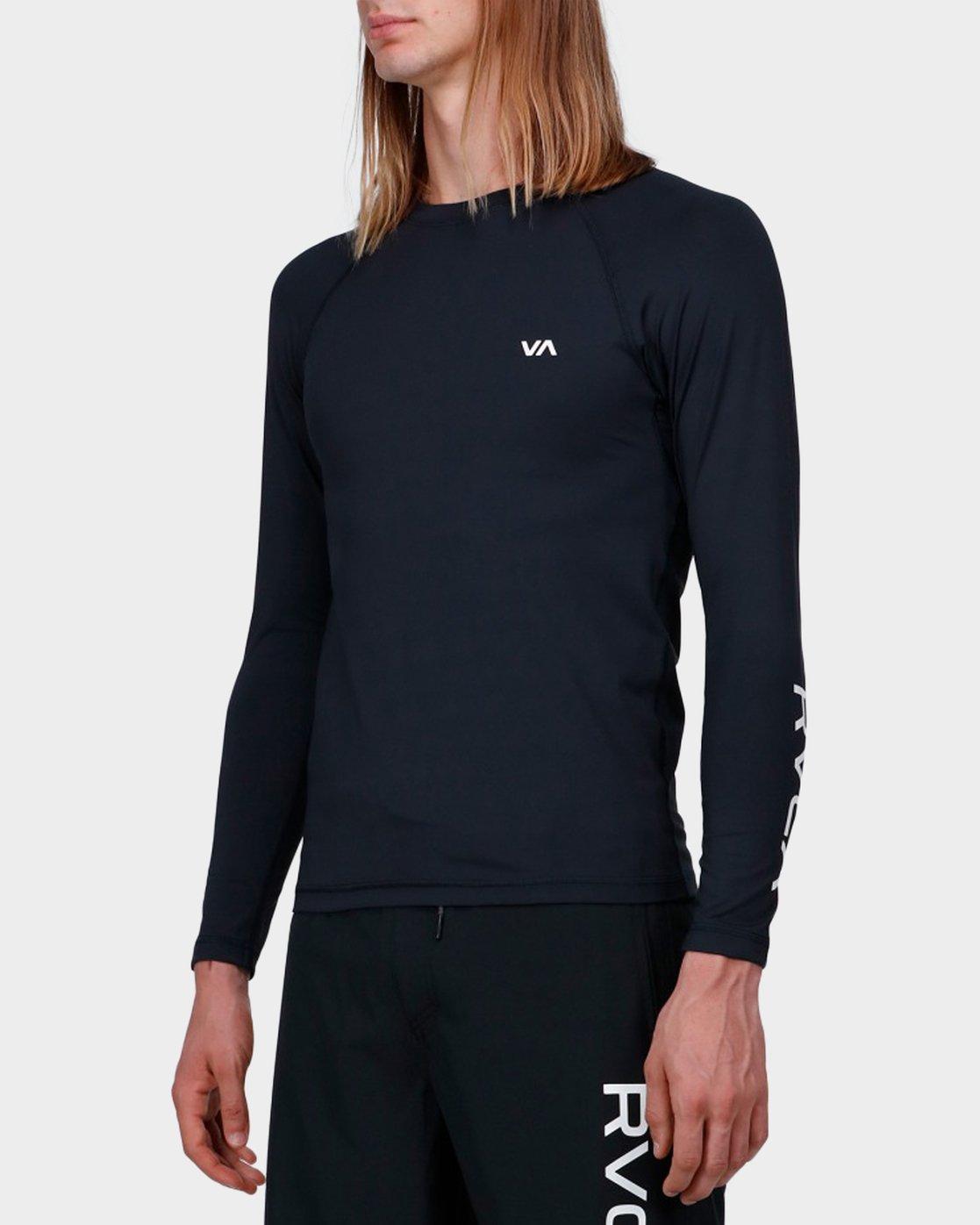 1 Va Sport Compression Long Sleeve Top Black R371364 RVCA