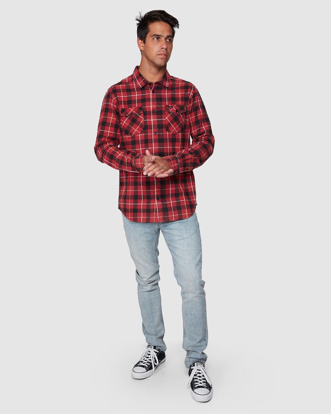 5 Treets Long Sleeve Shirt Brown R372190 RVCA