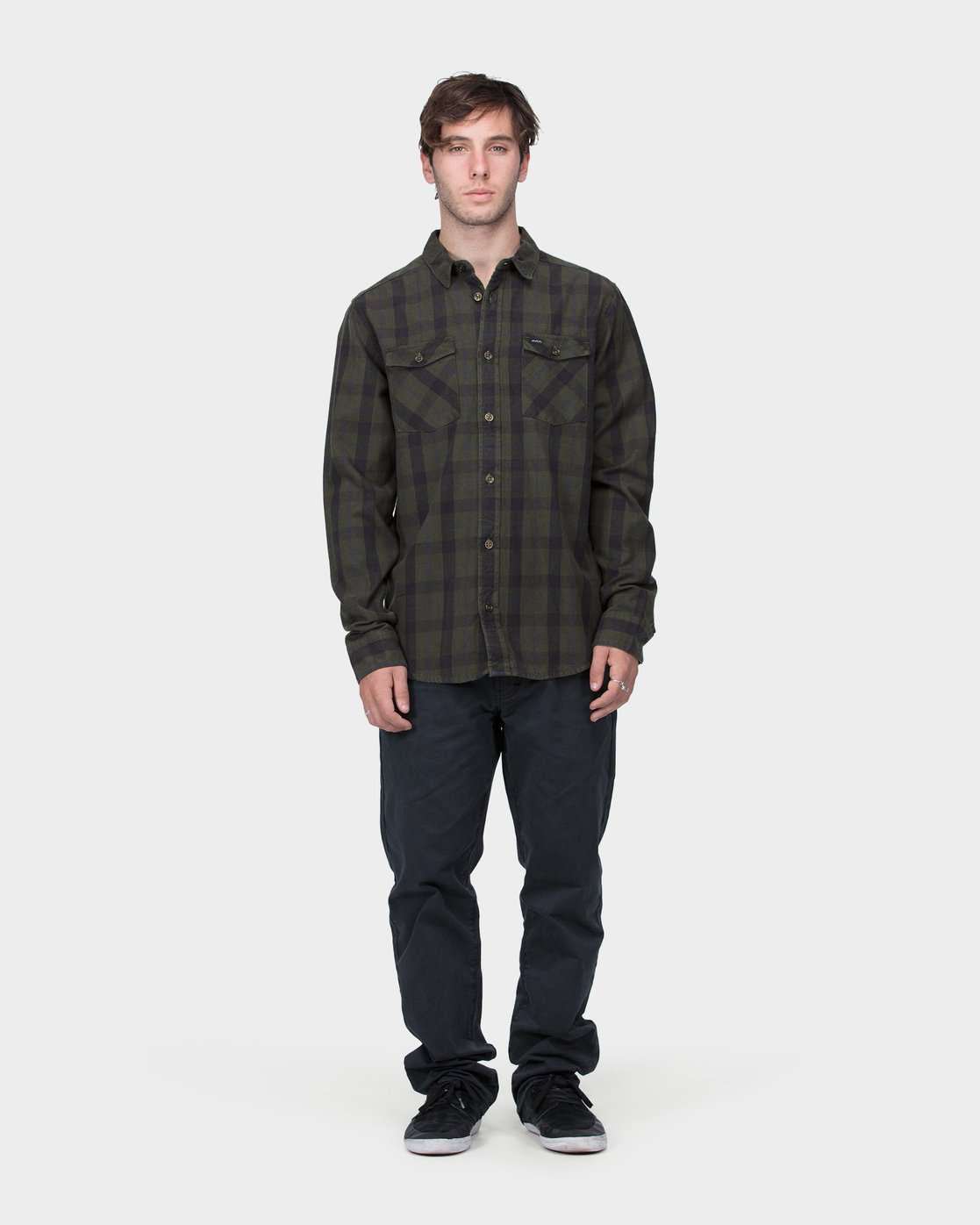 3 Treets Long Sleeve Shirt Camo R372190 RVCA
