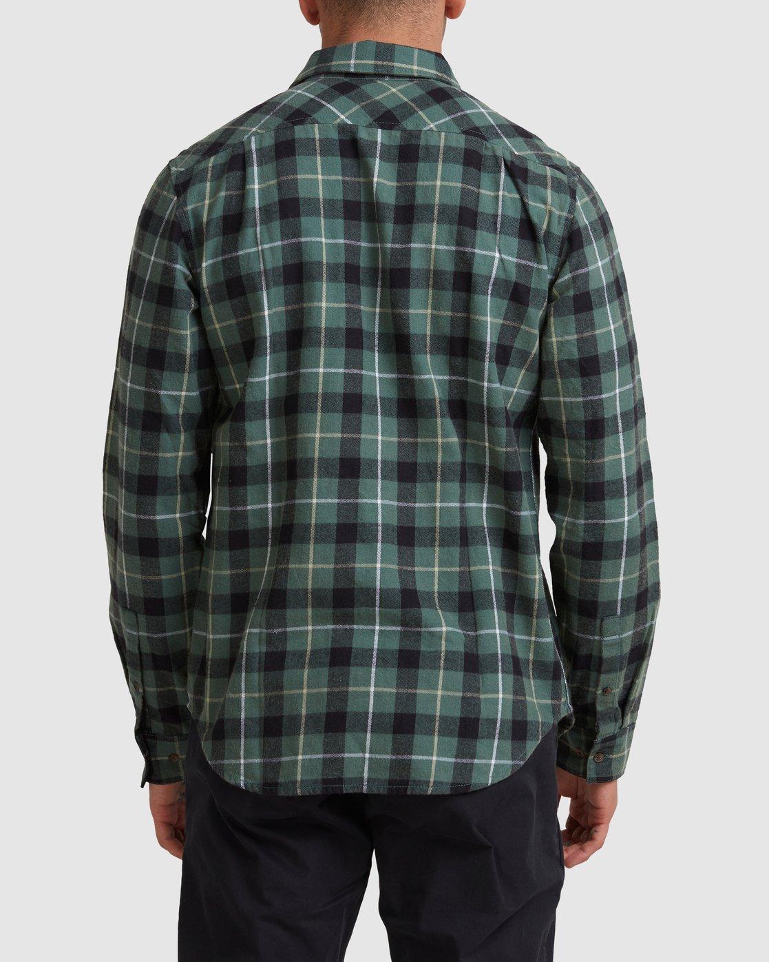 2 Treets Long Sleeve Shirt Green R372190 RVCA