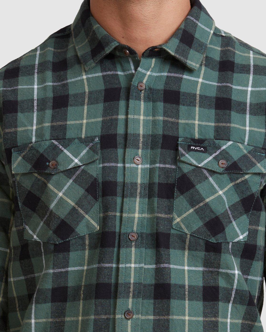 3 Treets Long Sleeve Shirt Green R372190 RVCA