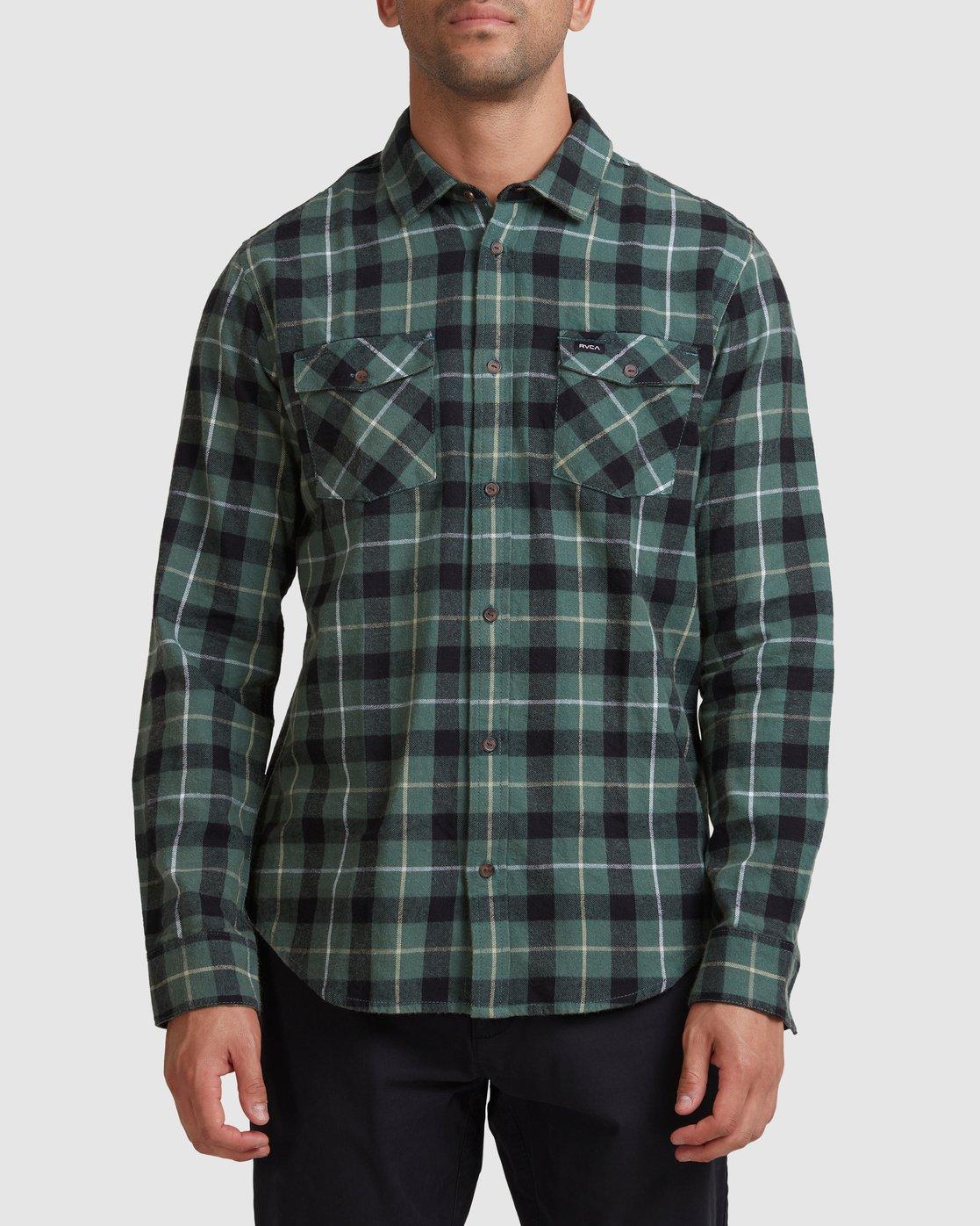 0 Treets Long Sleeve Shirt Green R372190 RVCA