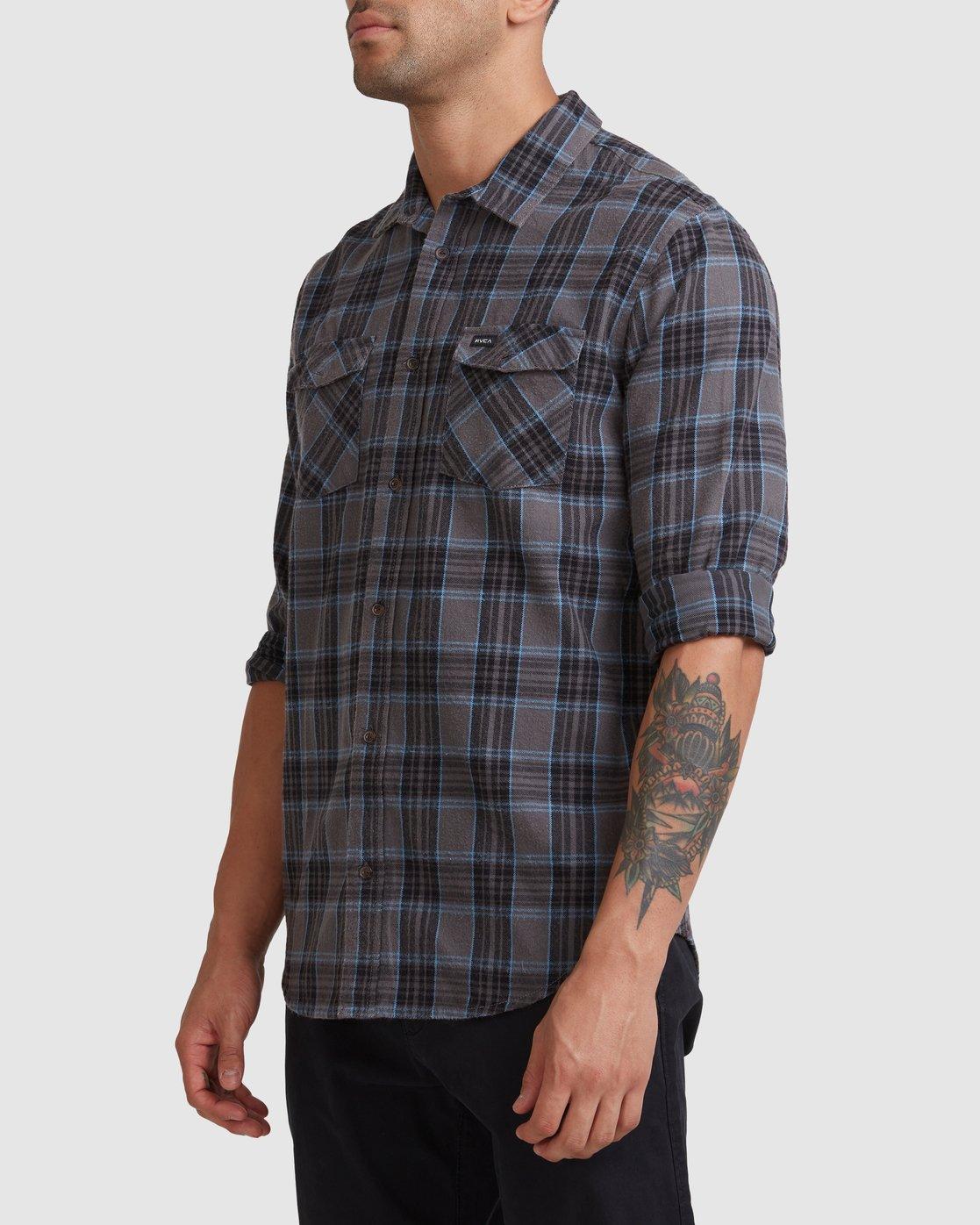 1 Treets Long Sleeve Shirt Grey R372190 RVCA