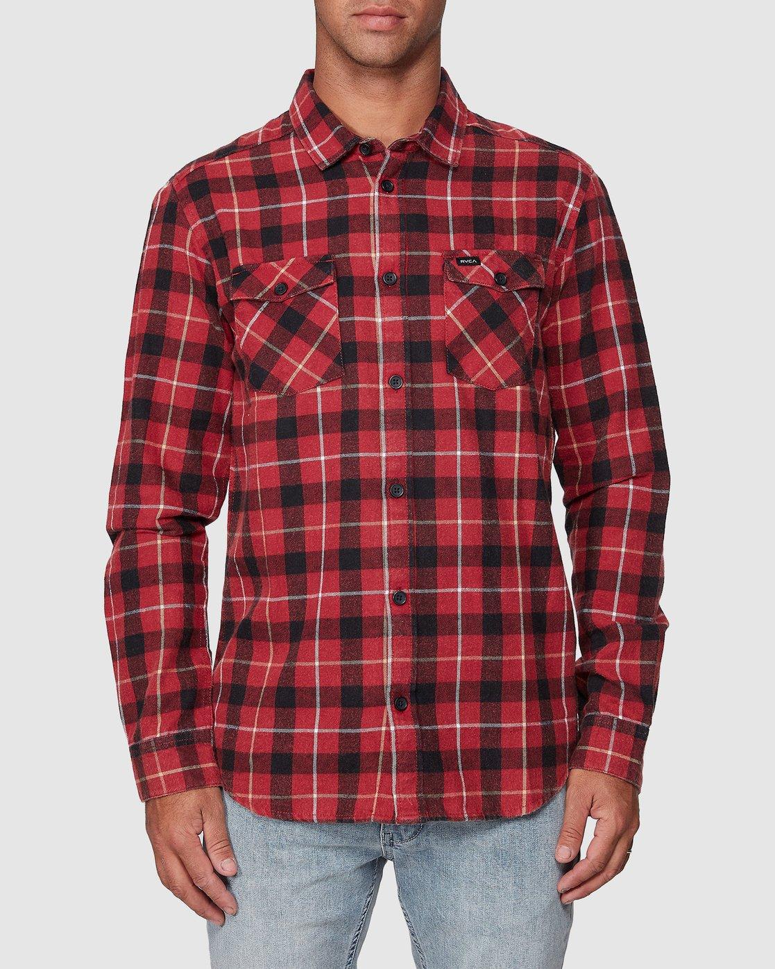 1 Treets Long Sleeve Shirt Brown R372190 RVCA