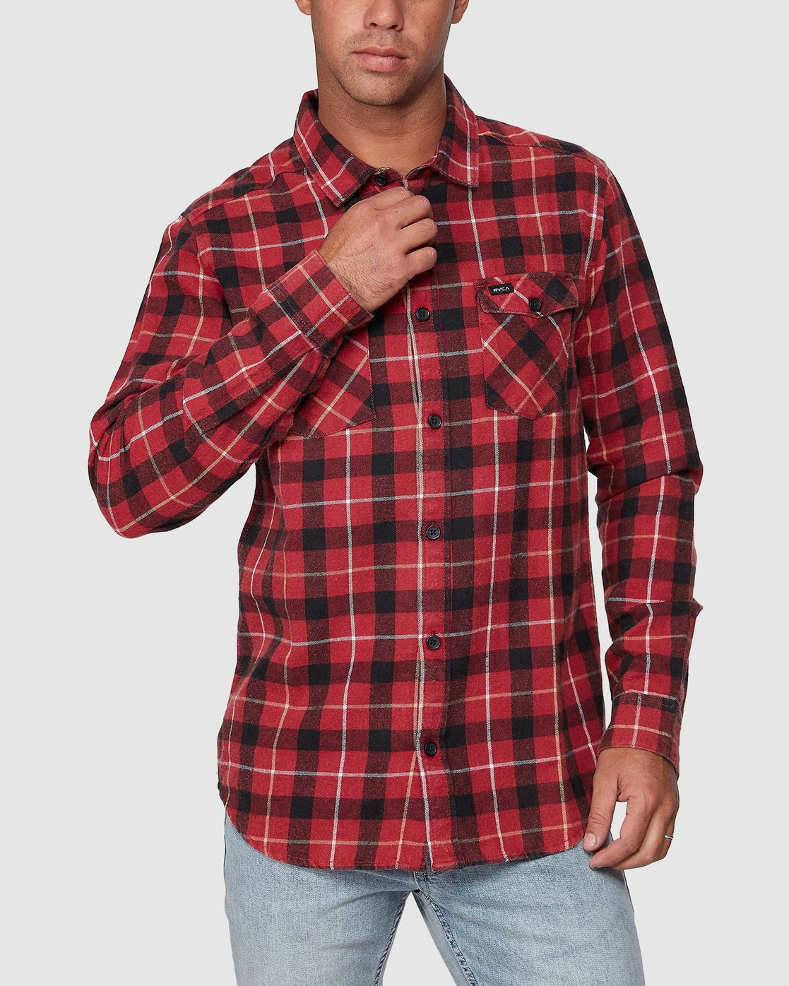 0 Treets Long Sleeve Shirt Brown R372190 RVCA