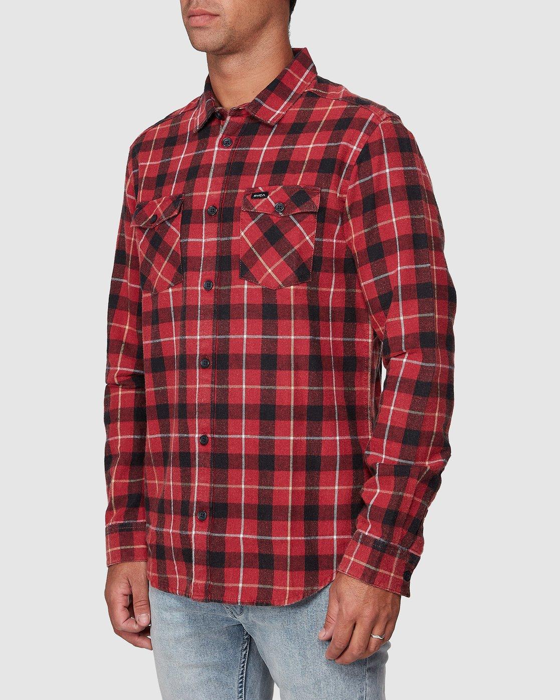 2 Treets Long Sleeve Shirt Brown R372190 RVCA