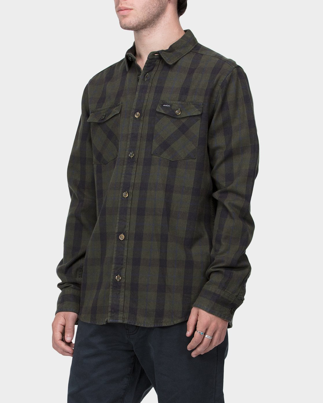 1 Treets Long Sleeve Shirt Camo R372190 RVCA
