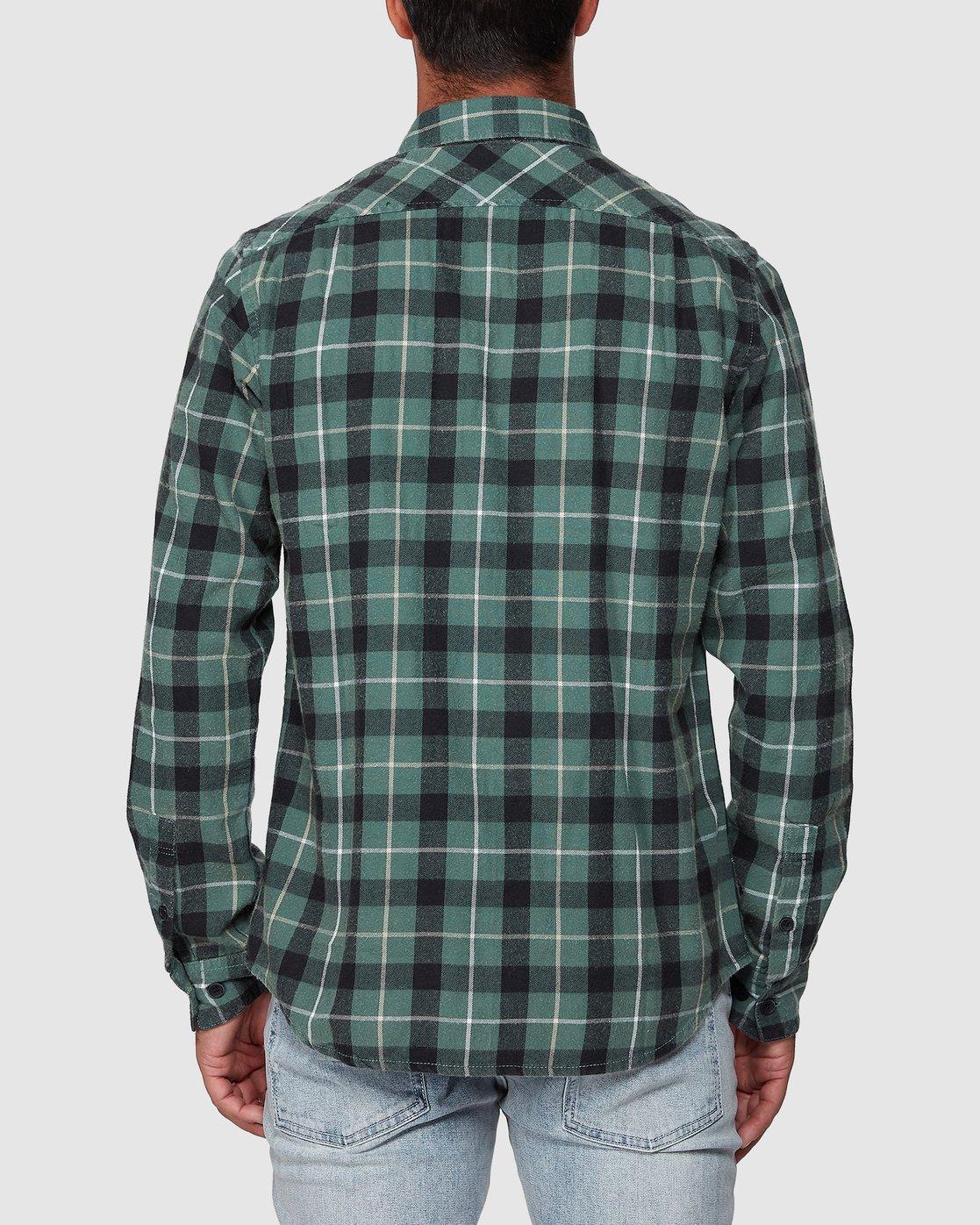 8 Treets Long Sleeve Shirt Green R372190 RVCA