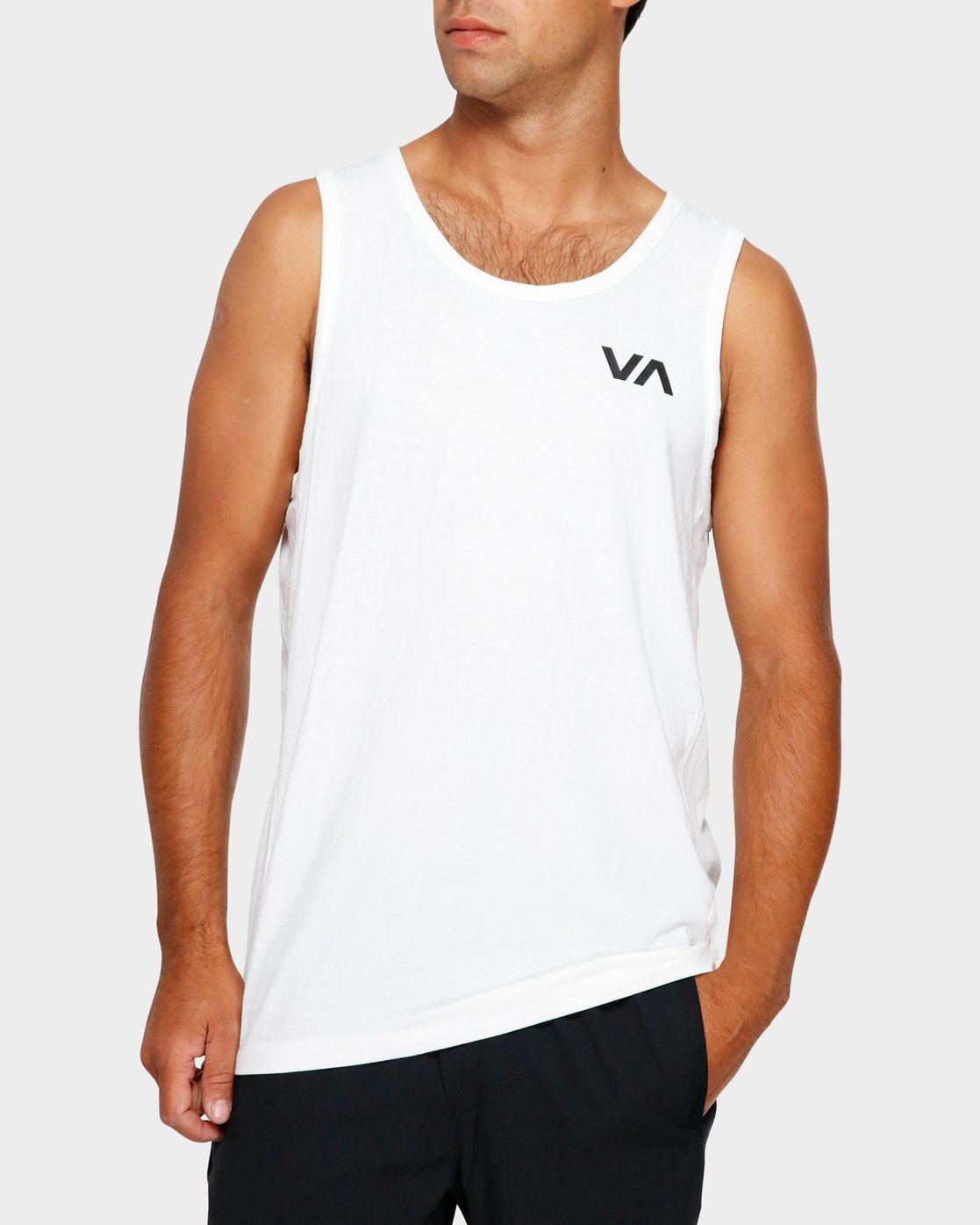 0 Va Vent Sleeveleshorts S Sleeve T-Shirt White R381001 RVCA