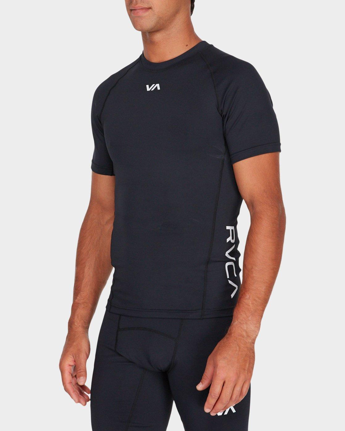 1 Va Compression Short Sleeve T-Shirt Black R381048 RVCA