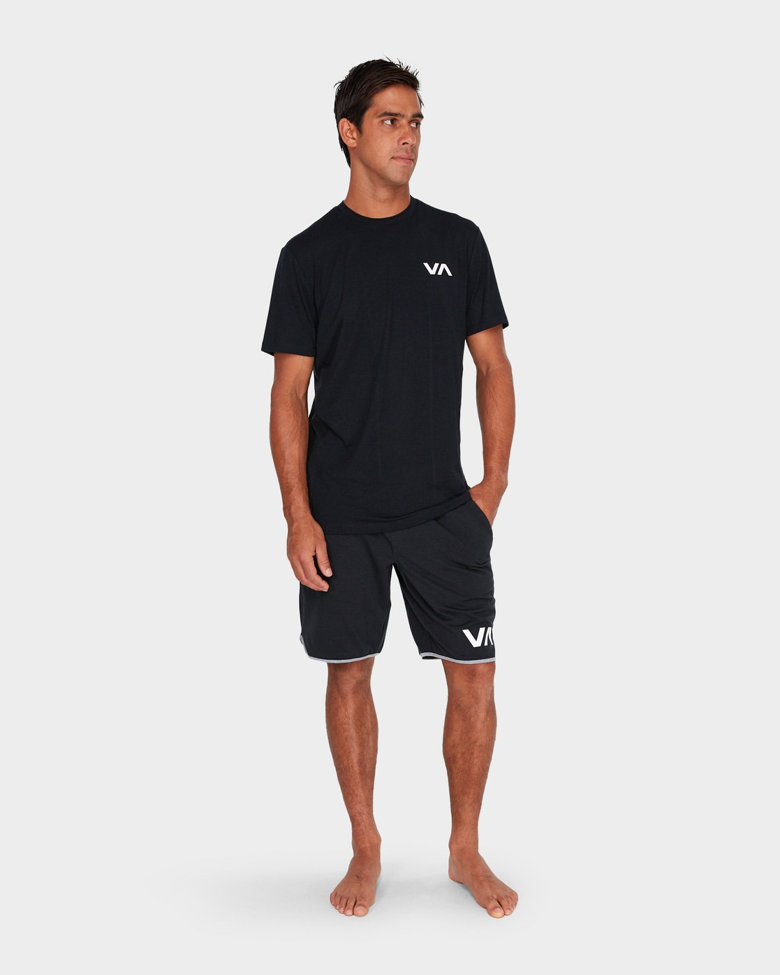 3 Va Vent Shorts Sleeve T-Shirt Black R381049 RVCA