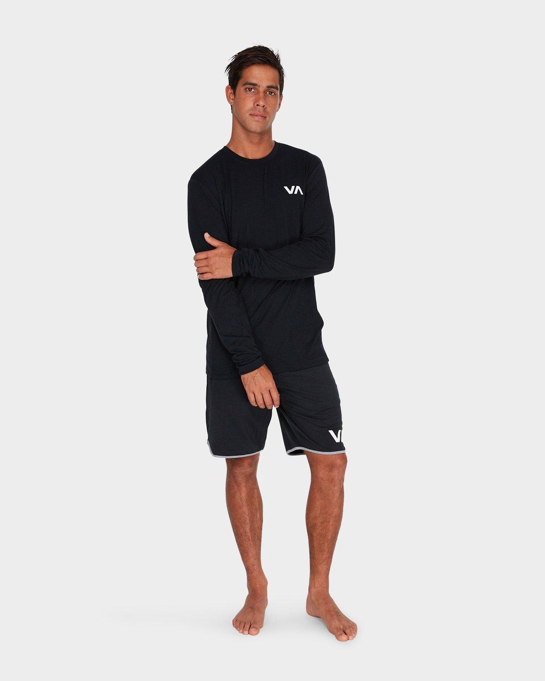3 VA Vent Long Sleeve Top Black R381092 RVCA