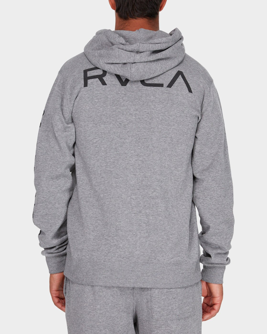 2 Va Guard Fleece Hoodie Grey R381154 RVCA