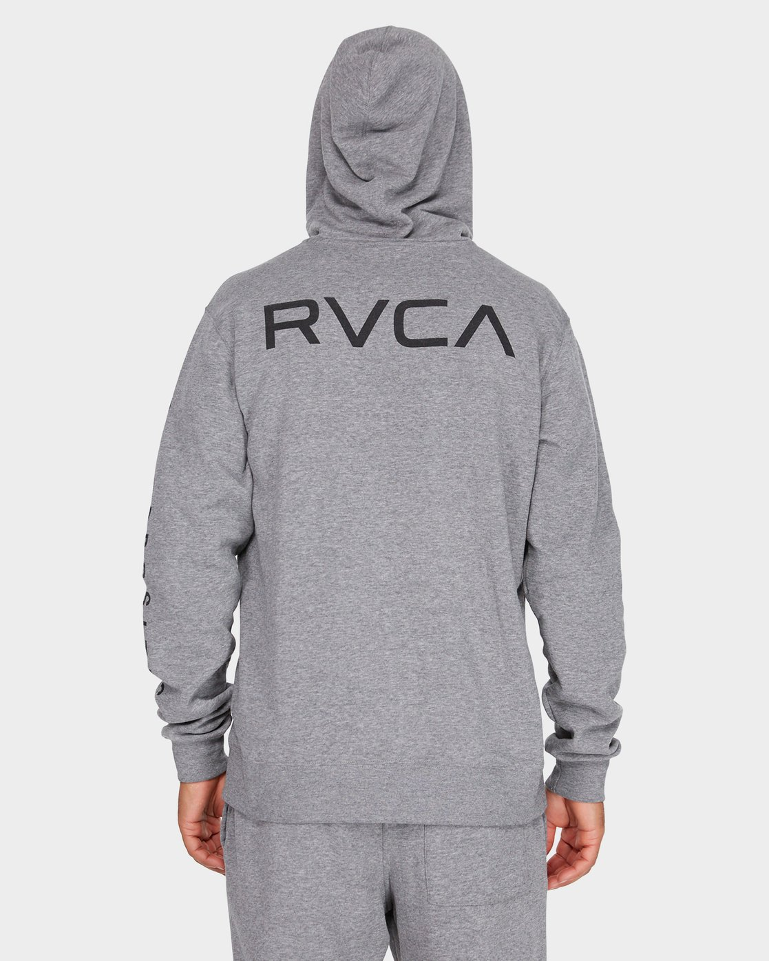 3 Va Guard Fleece Hoodie Grey R381154 RVCA