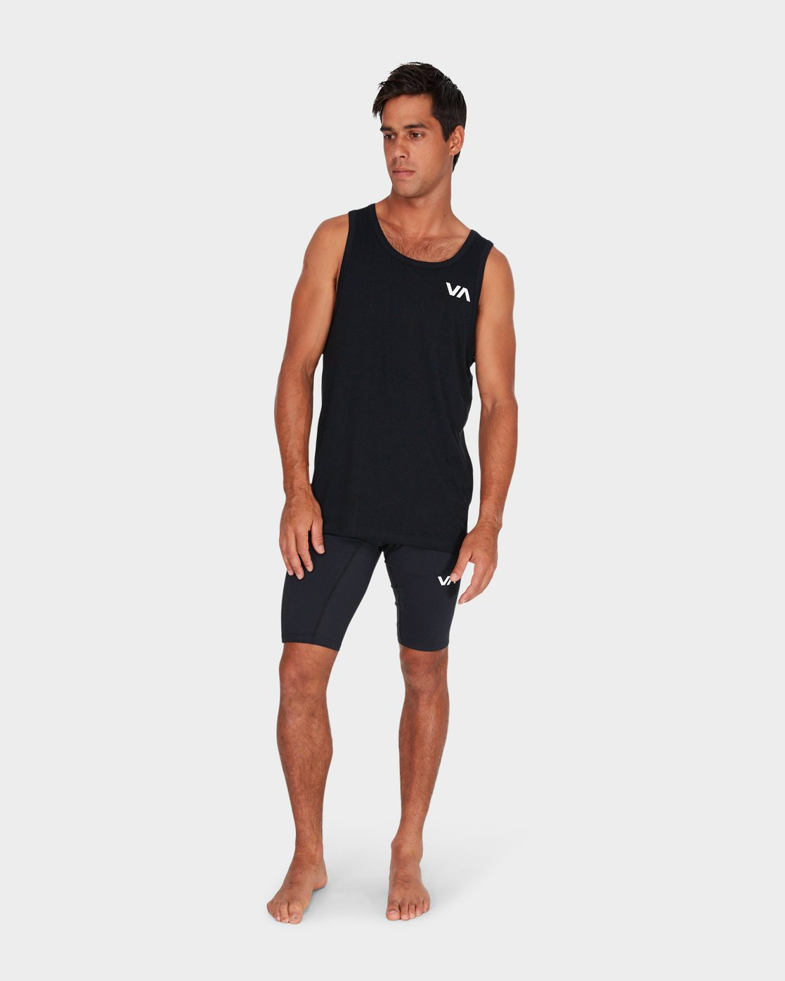 6 VA Compression Shorts Black R381322 RVCA