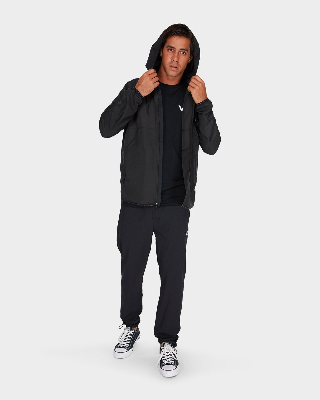 3 Axe Packable Jacket Black R381436 RVCA