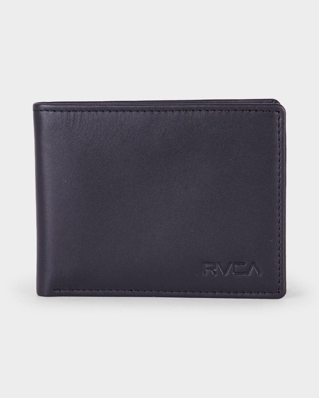 0 Crest Bi-fold Wallet Black R381492 RVCA
