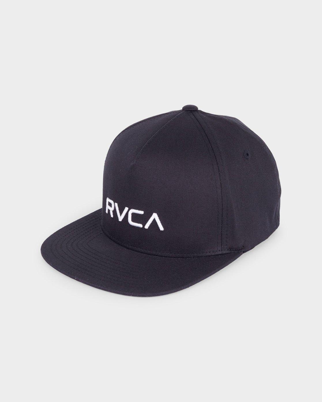 0 RVCA Sport Flexfit Cap Black R381575 RVCA