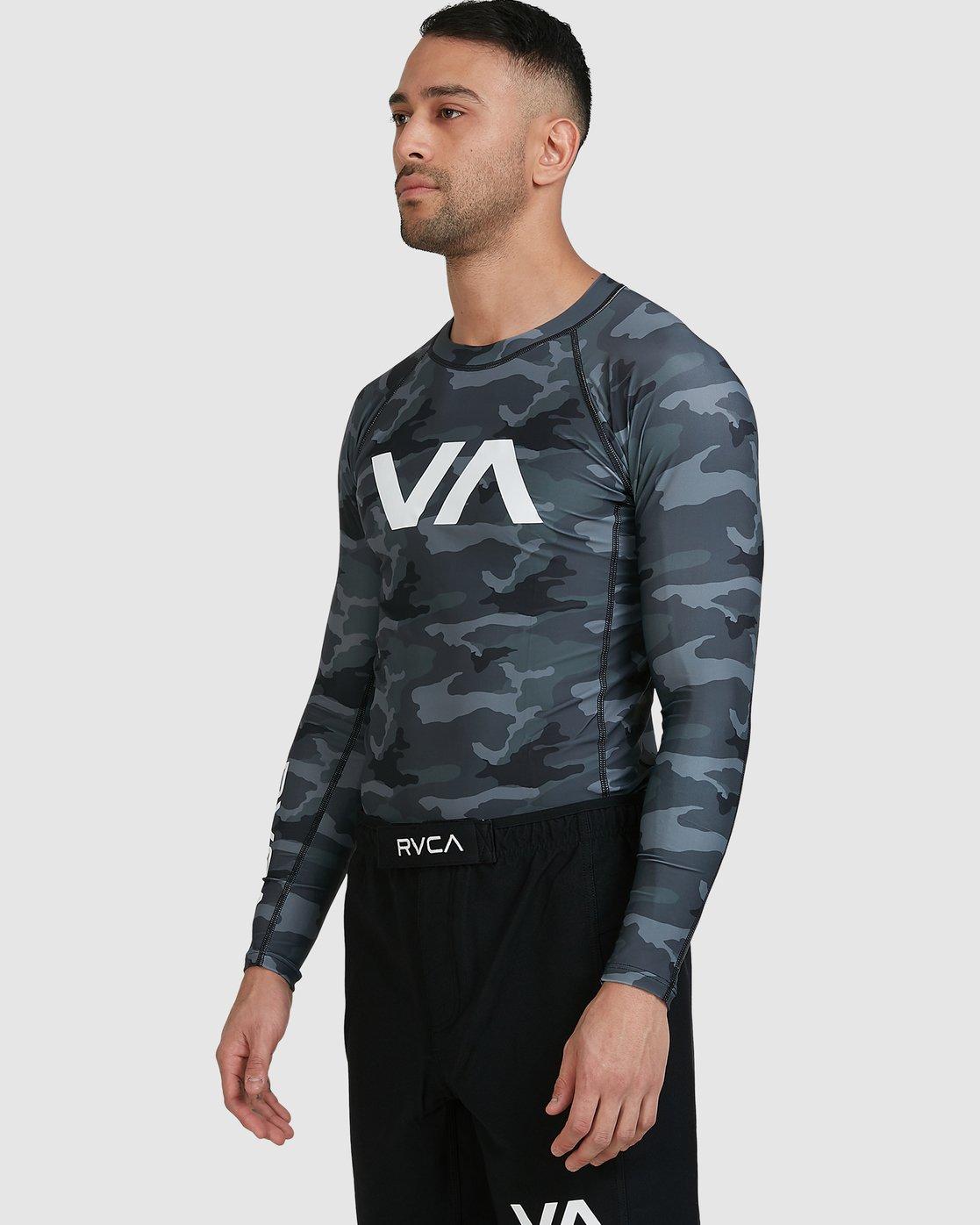 6 Sport Long Sleeve Rashguard Camo R381661 RVCA