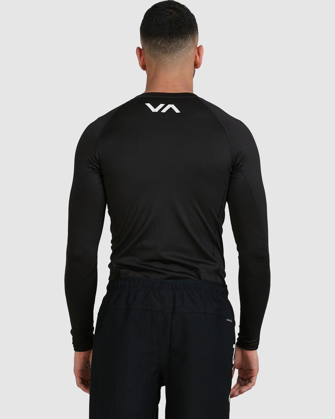 4 Sport Long Sleeve Rashguard Black R381661 RVCA