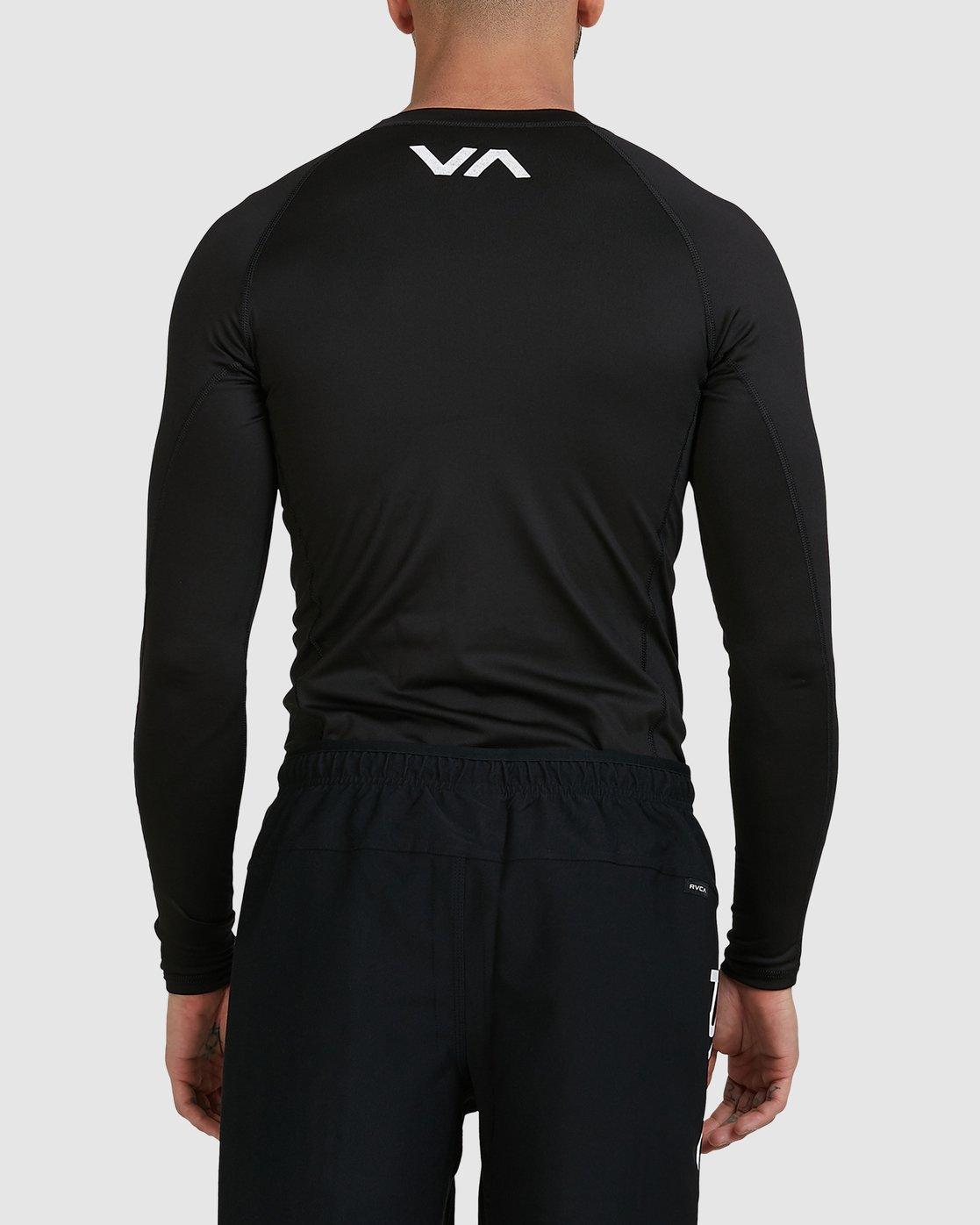 5 Sport Long Sleeve Rashguard Black R381661 RVCA