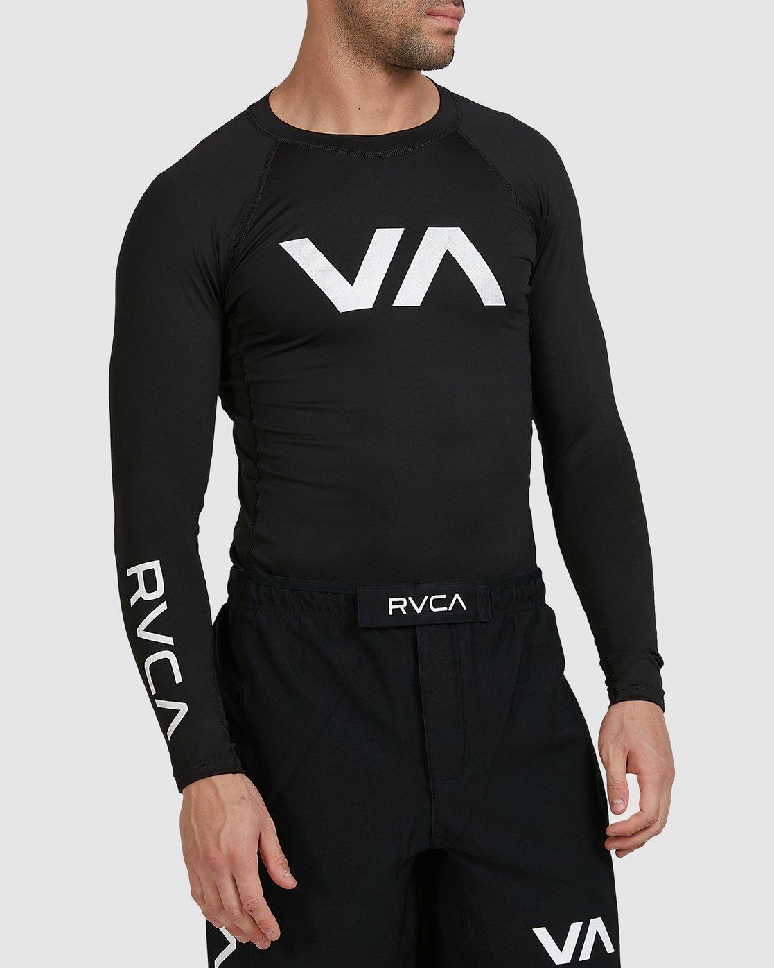 2 Sport Long Sleeve Rashguard Black R381661 RVCA