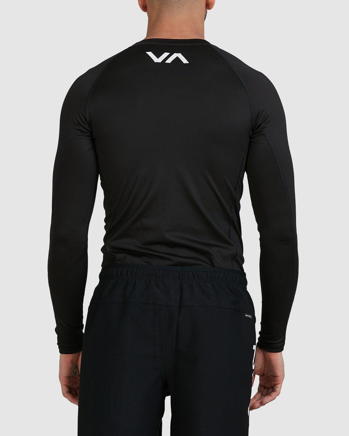 11 Sport Long Sleeve Rashguard Black R381661 RVCA