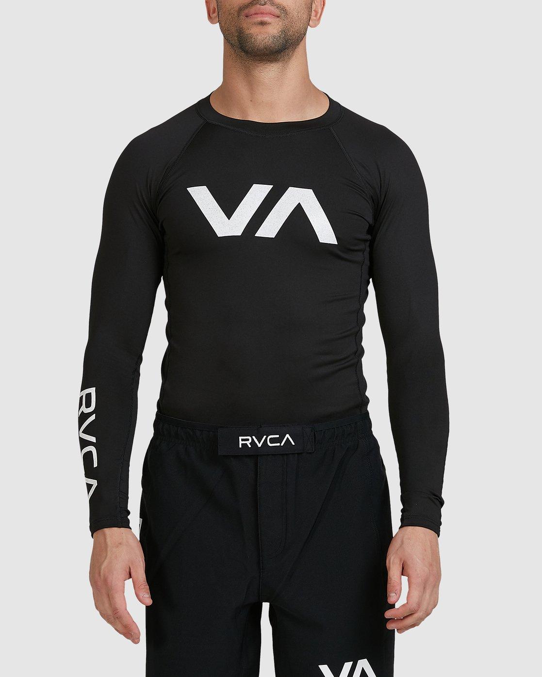 9 Sport Long Sleeve Rashguard Black R381661 RVCA