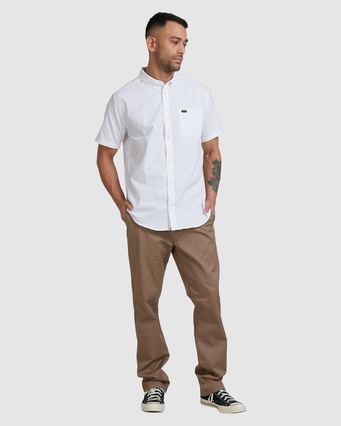 3 Thatll Do Stretch Short Sleeve Shirt White R382185 RVCA