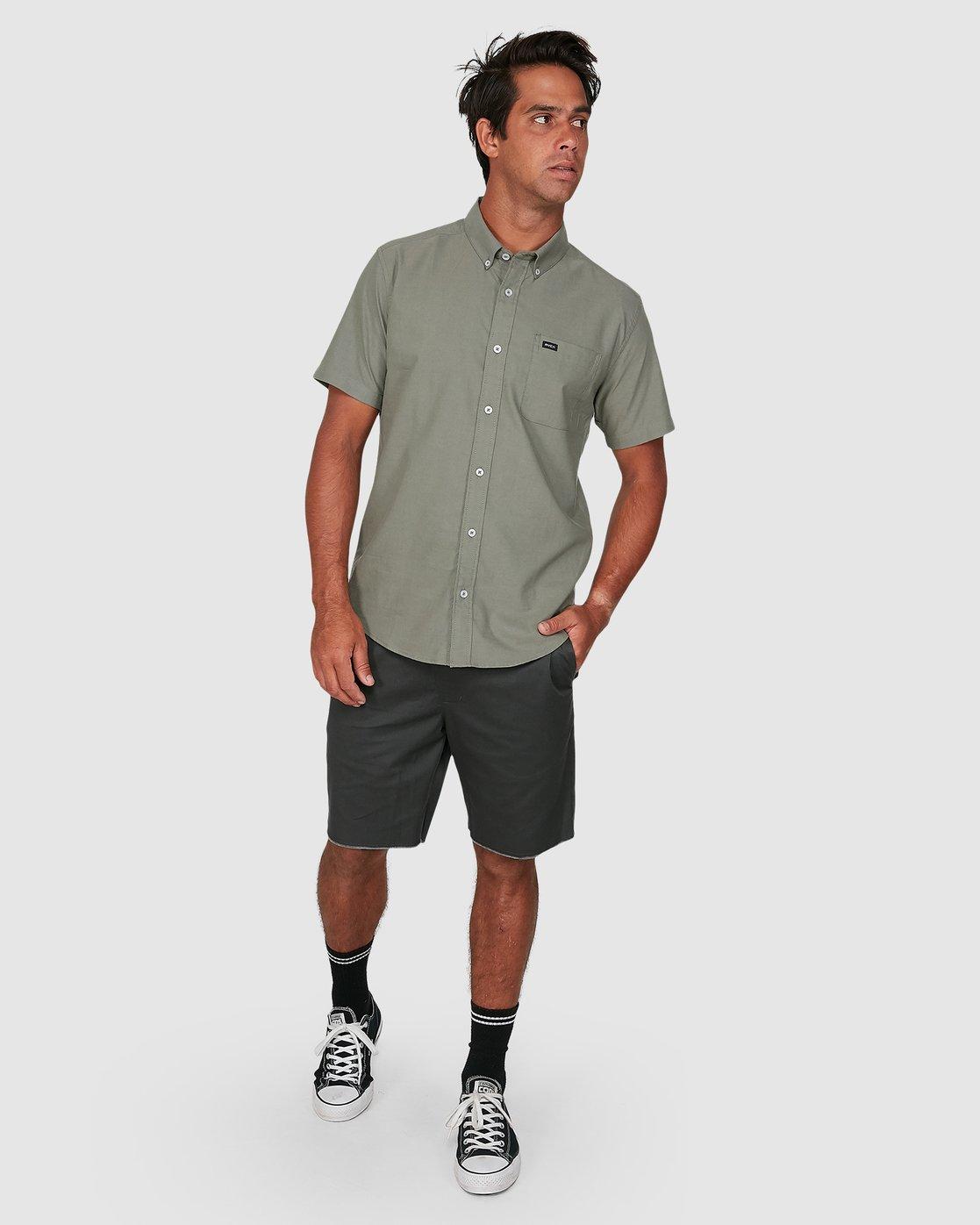 5 Thatll Do Stretch Short Sleeve Shirt Green R382185 RVCA