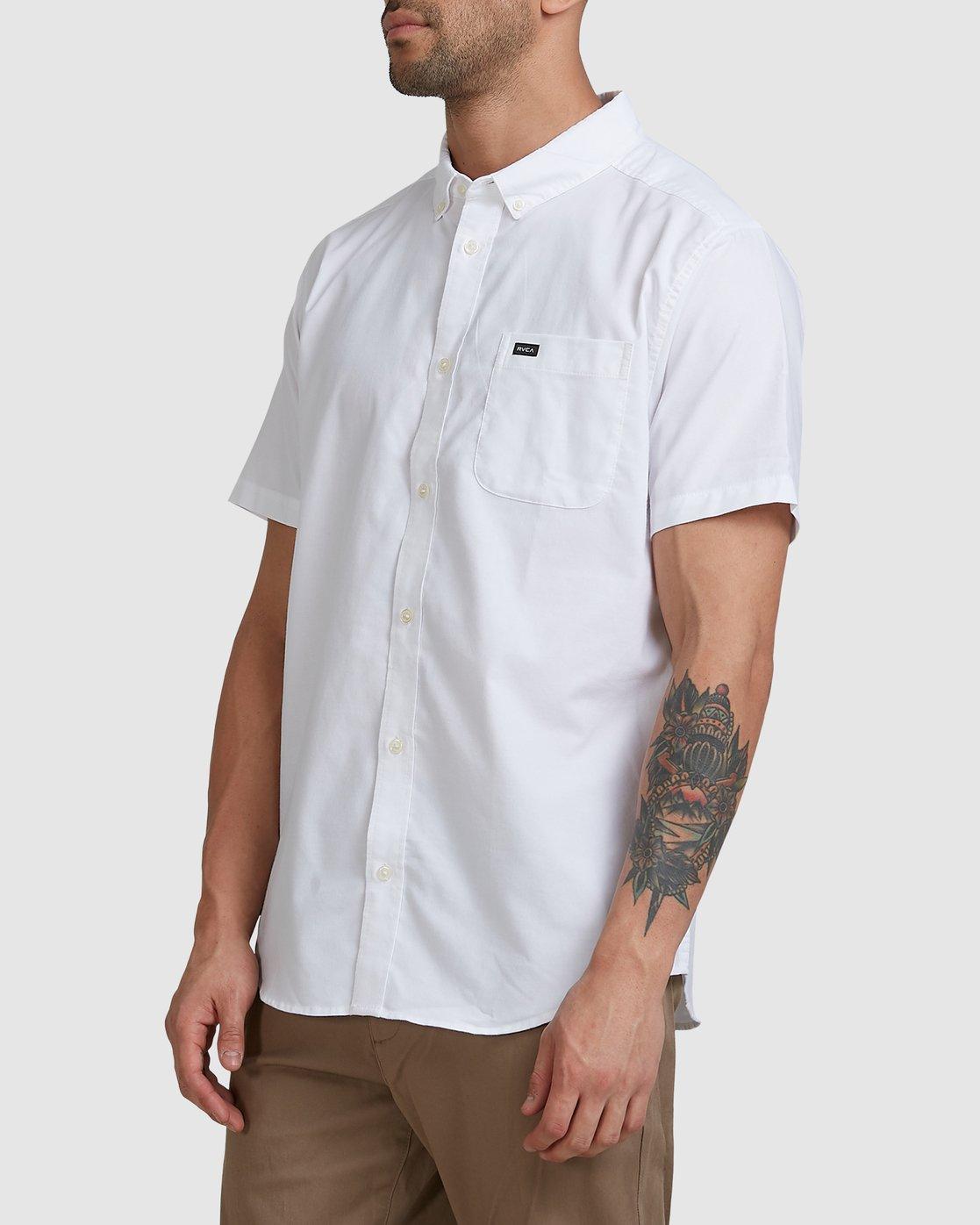 1 Thatll Do Stretch Short Sleeve Shirt White R382185 RVCA