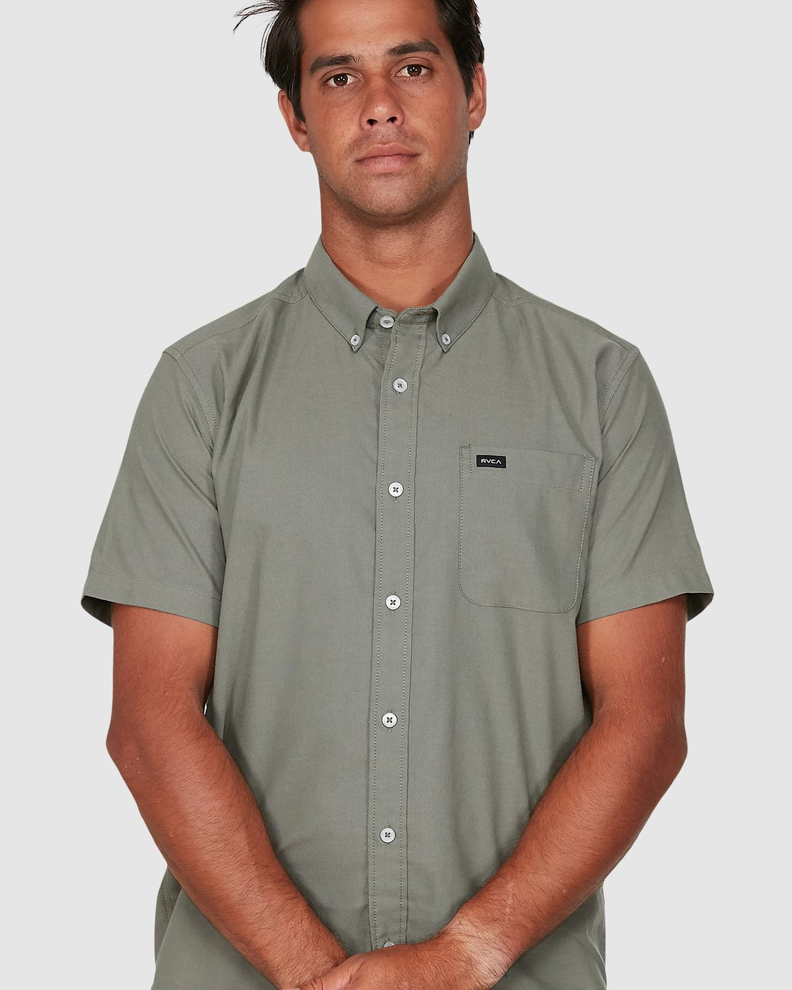 3 Thatll Do Stretch Short Sleeve Shirt Green R382185 RVCA