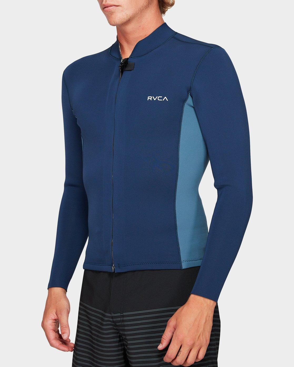 1 Front Zip Neoprene Blue R382642 RVCA