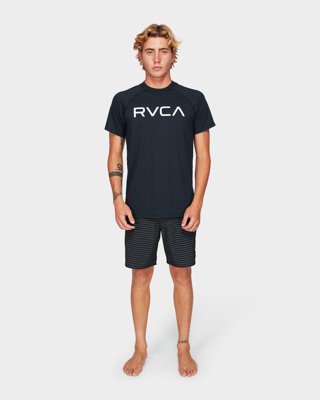 4 Micro Mesh Short Sleeve Tee Black R382644 RVCA