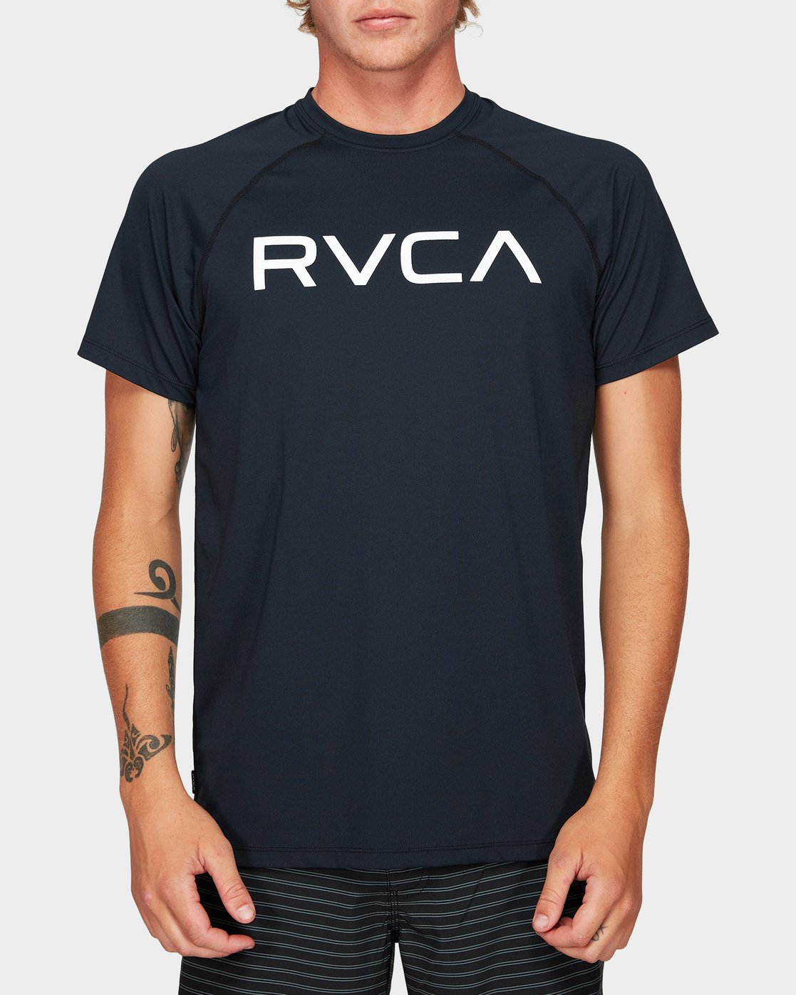 0 Micro Mesh Short Sleeve Tee Black R382644 RVCA